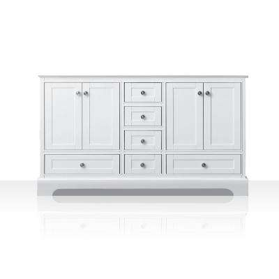 Audrey 59 in. W x 21 in. D Vanity Cabinet Only in White