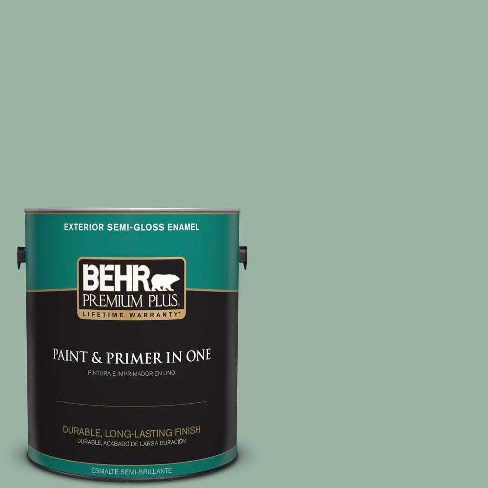 BEHR Premium Plus 1-gal. #S410-4 Copper Patina Semi-Gloss Enamel Exterior Paint