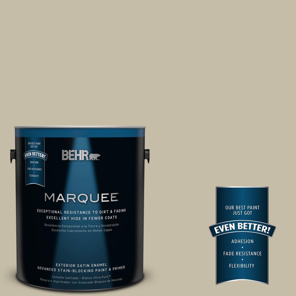BEHR MARQUEE 1-gal. #PPU8-18 Celery Powder Satin Enamel Exterior Paint