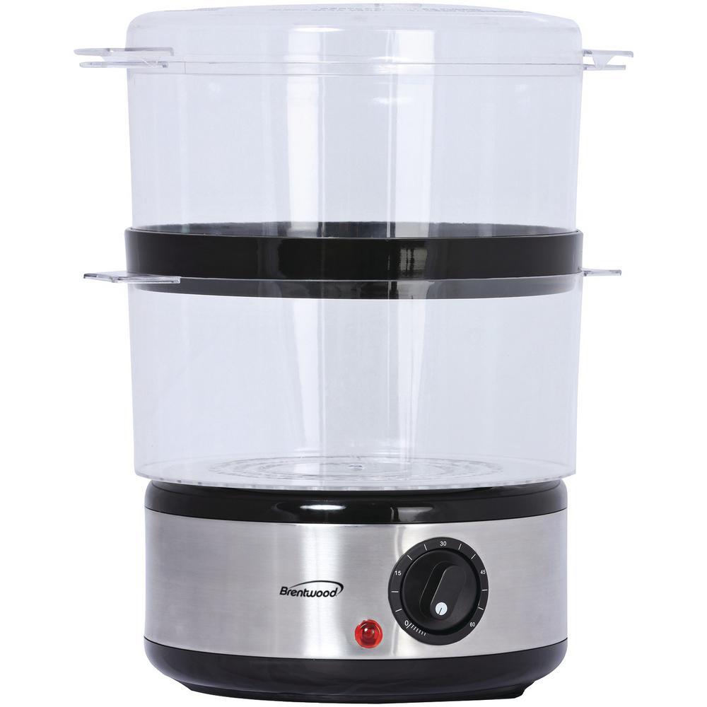 20-Cup Silver 2-Tier Food Steamer