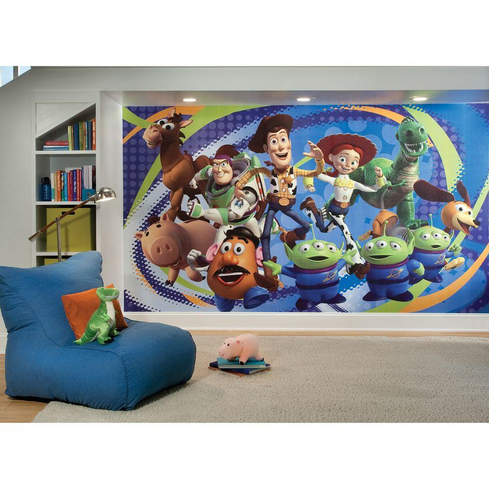 Roommates Toy Story 3 Chair Rail Prepasted Mural 6 Ft X 105 Ft