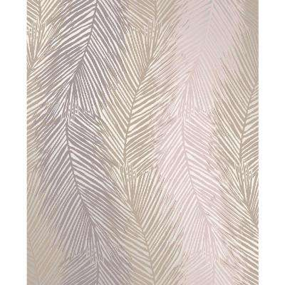 Wheaton Purple Leaf Wave Wallpaper Sample