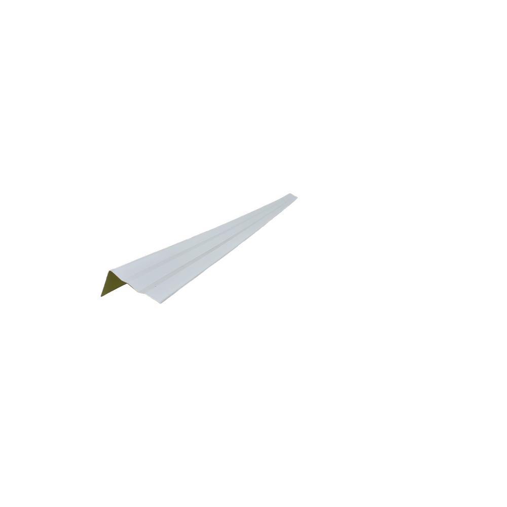 36 in. Aluminum Door Trim Kit 2.5 in. x 2.25 in. x 85 in. White Siding Moulding (6-Piece)