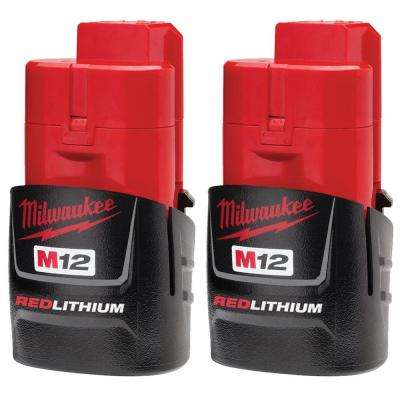 M12 12-Volt Lithium-Ion Compact Battery Pack 1.5Ah (2-Pack)