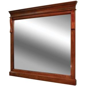 Foremost Naples 36 inch x 32 inch Wall Mirror in Warm Cinnamon by Foremost