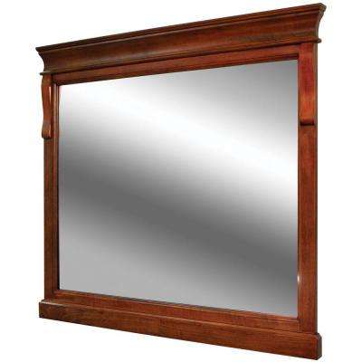 Naples 36 in. x 32 in. Wall Mirror in Warm Cinnamon