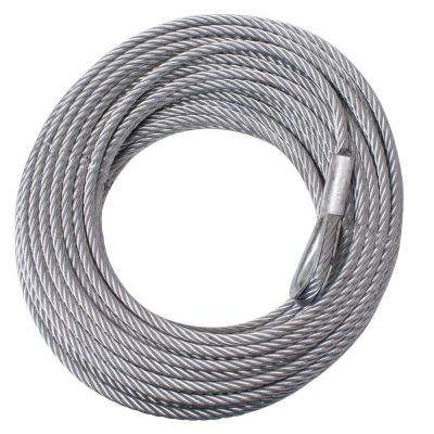 23/64 in. x 94 ft. Steel Winch Cable