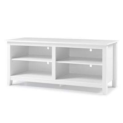 "Essential Wood Fits 65"" TV Stand Entertainment Center - White"