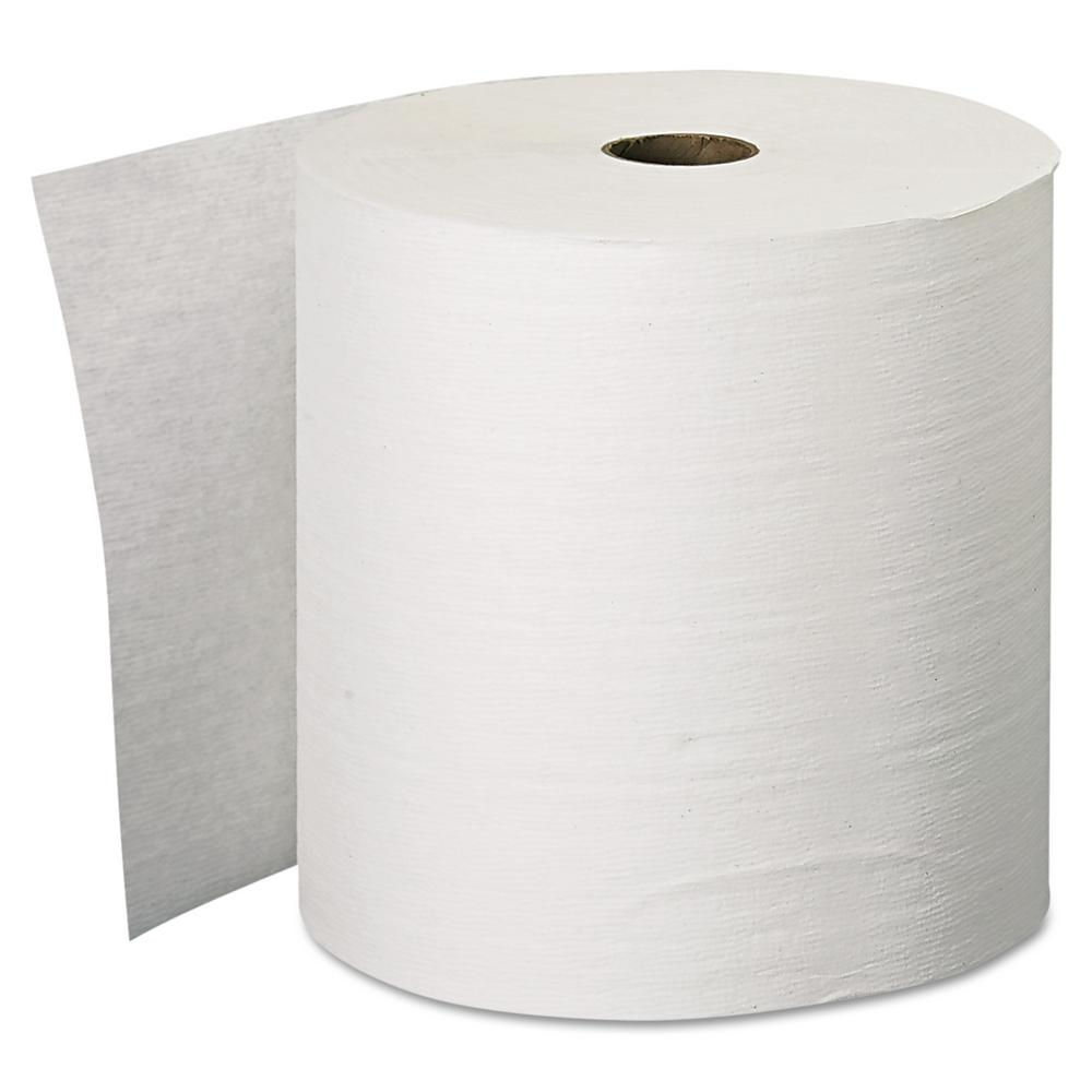 White Hard Roll Paper Towel, 1-Ply (6-Pack)