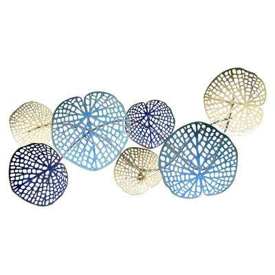 15.25 in. Metal Wall Decor in Blue