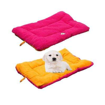 Eco-Paw Large Hot Pink and Orange Reversible Pet Bed