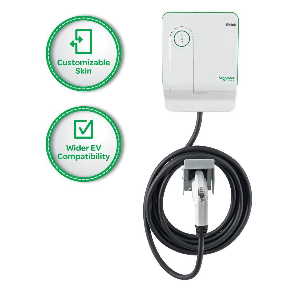 Schneider Electric EVlink 30 Amp Generation 2.5 - Enhanced Model Indoor Electric Vehicle Charging Station