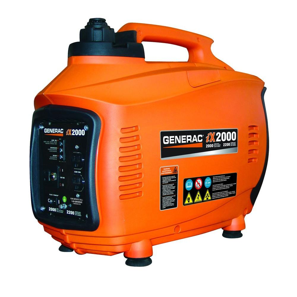 Generac 2,000-Watt Gasoline Powered Inverter Generator