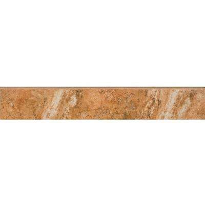 Montecelio Rustic 3 in. x 18 in. Porcelain Floor and Wall Bullnose Tile