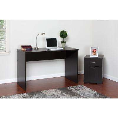 Olivia 2-Drawer Espresso Lateral File Cabinet
