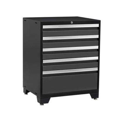 Pro 3 Series 37 in. H x 28 in. W x 22 in. D 18-Gauge Welded Steel 5-Drawer Tool Cabinet in Gray
