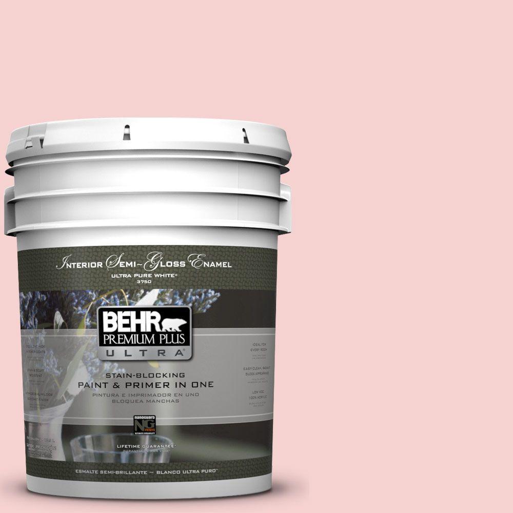 5-gal. #P170-1 Youth Blush Semi-Gloss Enamel Interior Paint