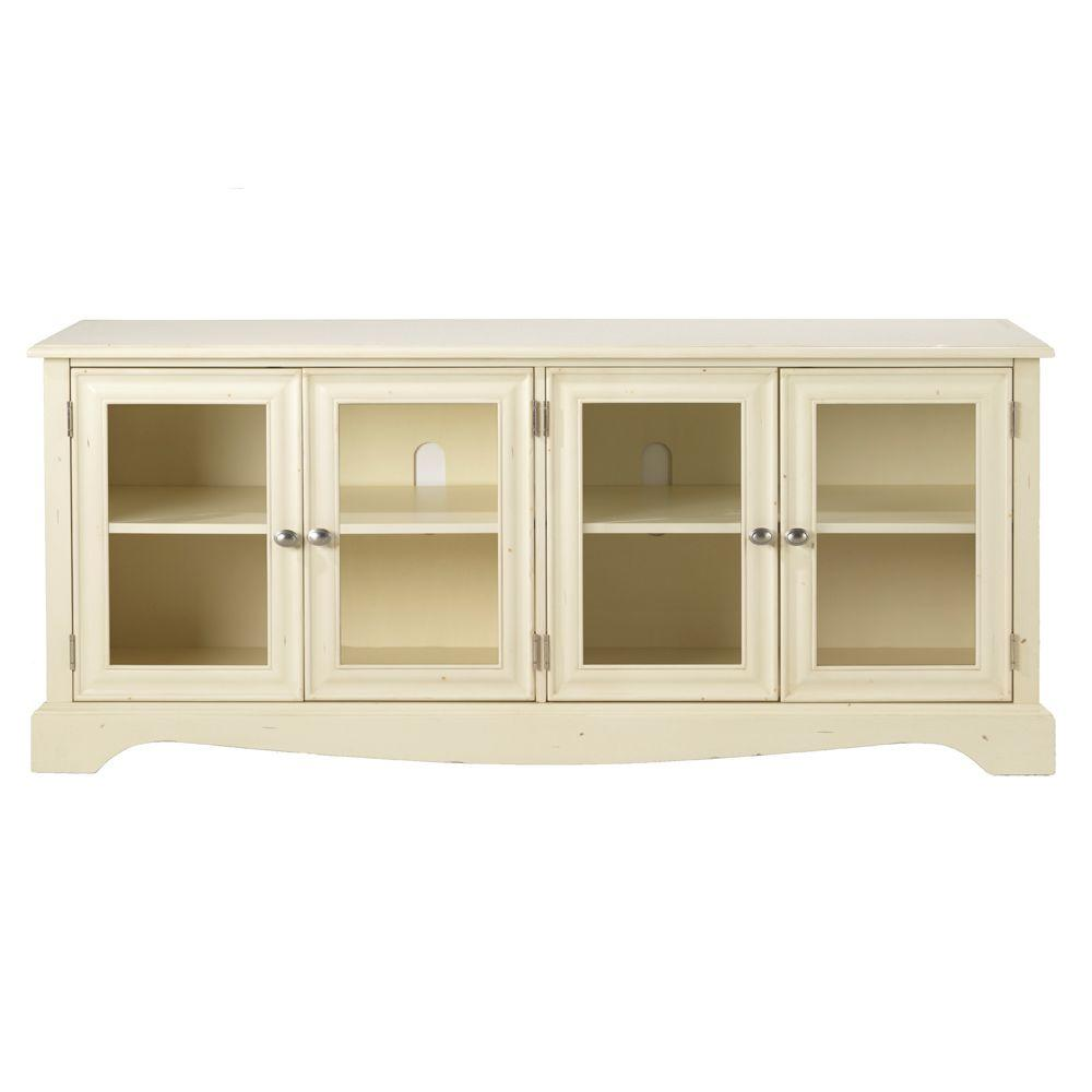 Home Decorators Collection Sheffield 60 in. W Antique Ivory 4-Door TV Stand