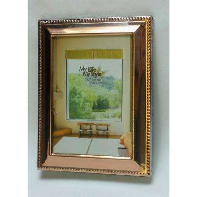 8 in. x 10 in. Beveled with Beaded Border Copper Alum Picture Frame