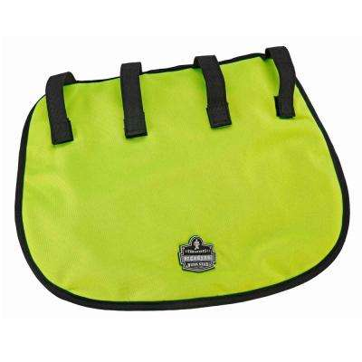 Lime Evaporative Hard Hat Neck Shade with Cooling Towel