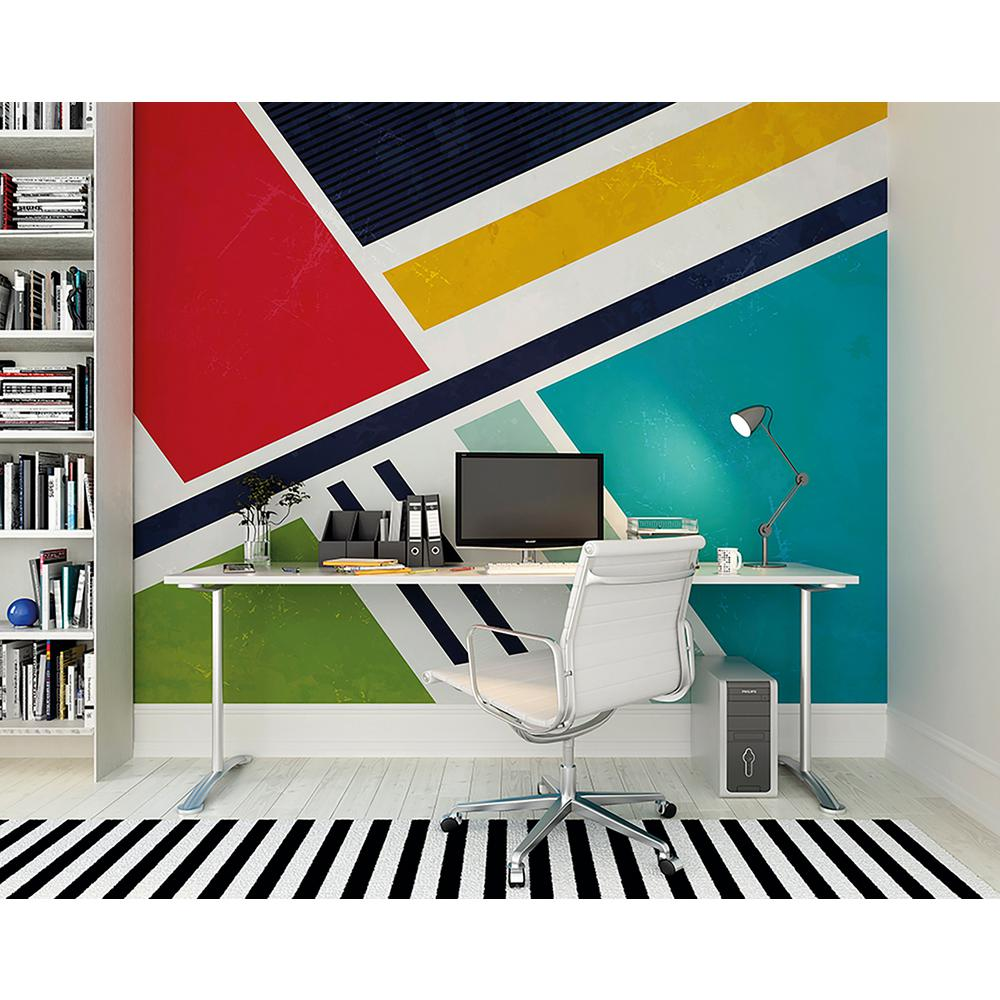 Retro Angles Wall Mural Wals0218 The Home Depot