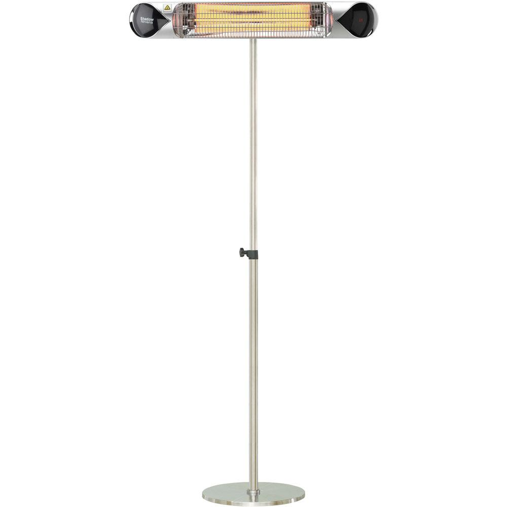 35.4 in. 1500-Watt Infrared Electric Patio Heater with Remote Control and