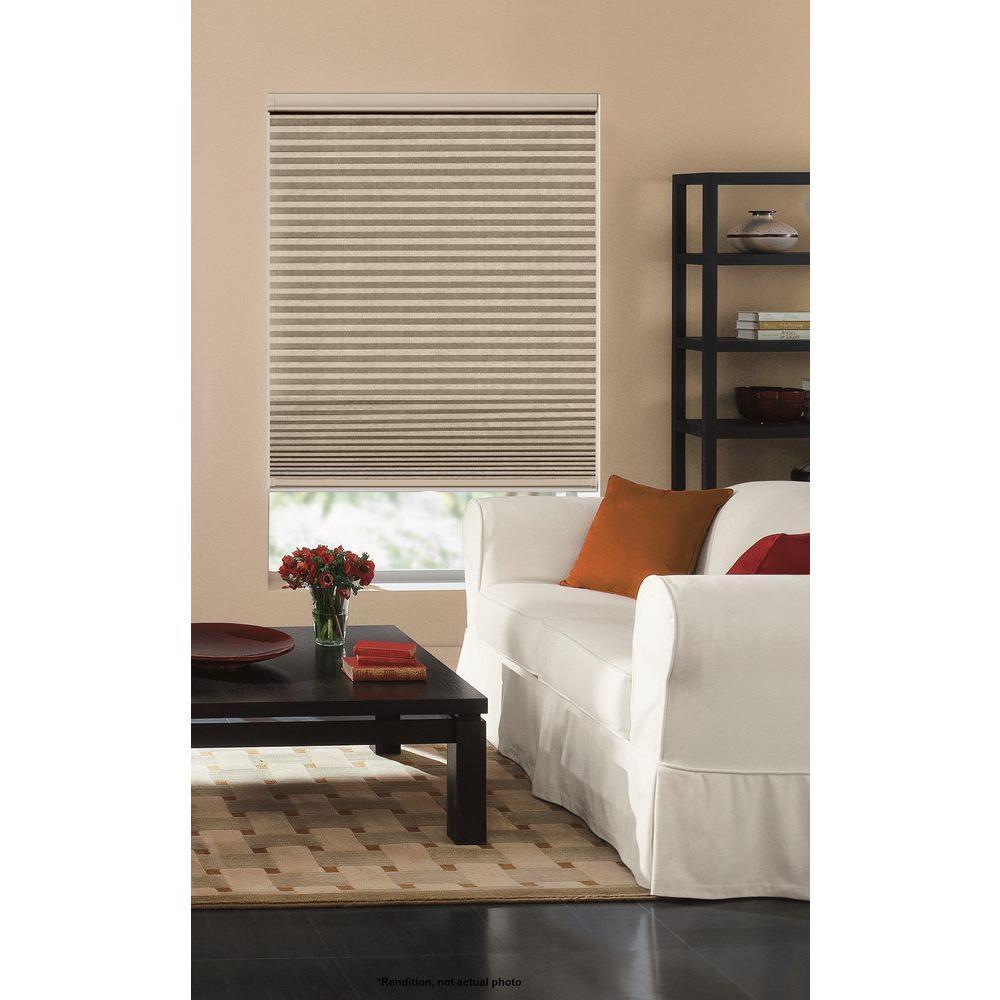 cellular blinds home depot bali cuttosize sandstone 916 in cordless blackout cellular shade