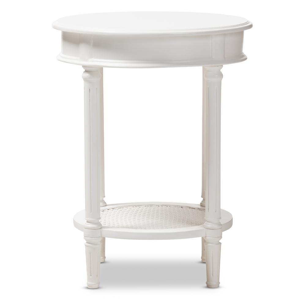Baxton Studio Poire White End Table 148-8181-HD