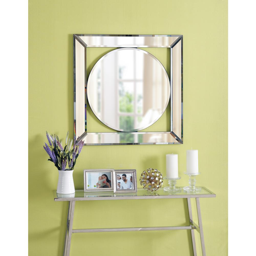 Kenroy Home Scribe Square Glass Decorative Wall Mirror-60334 - The ...