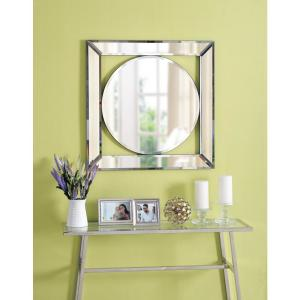 Kenroy Home Scribe Square Glass Decorative Wall Mirror by Kenroy Home