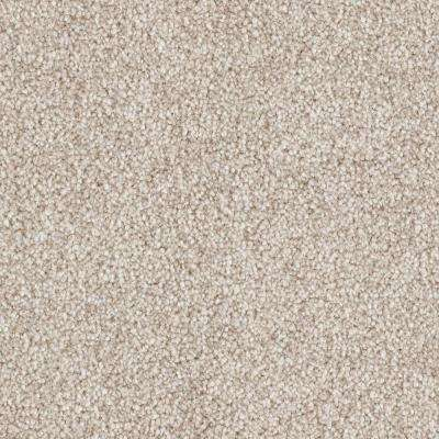 Carpet Sample - Tides Edge - Color Sand Thistle Textured 8 in. x 8 in.