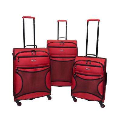 Rebel 3-Piece Scarlet Luggage Set