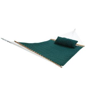 13 ft. Large Soft Weave Hammock Green by