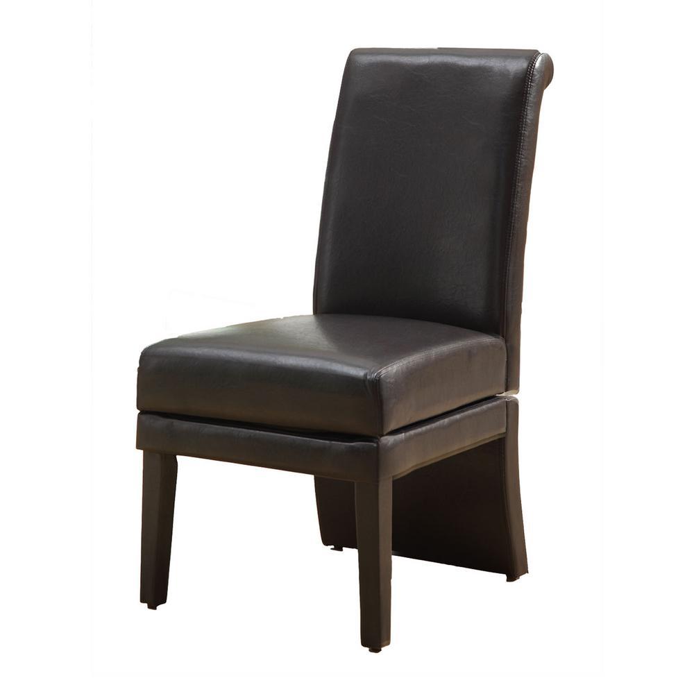 Dark Brown Swivel Dining Chair (Set of 2)