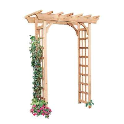 Rosedale 83 in. x 65 in. Outside Cedar Arbor