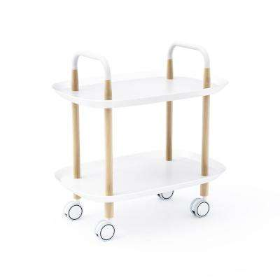 Blythe White Trolley Table