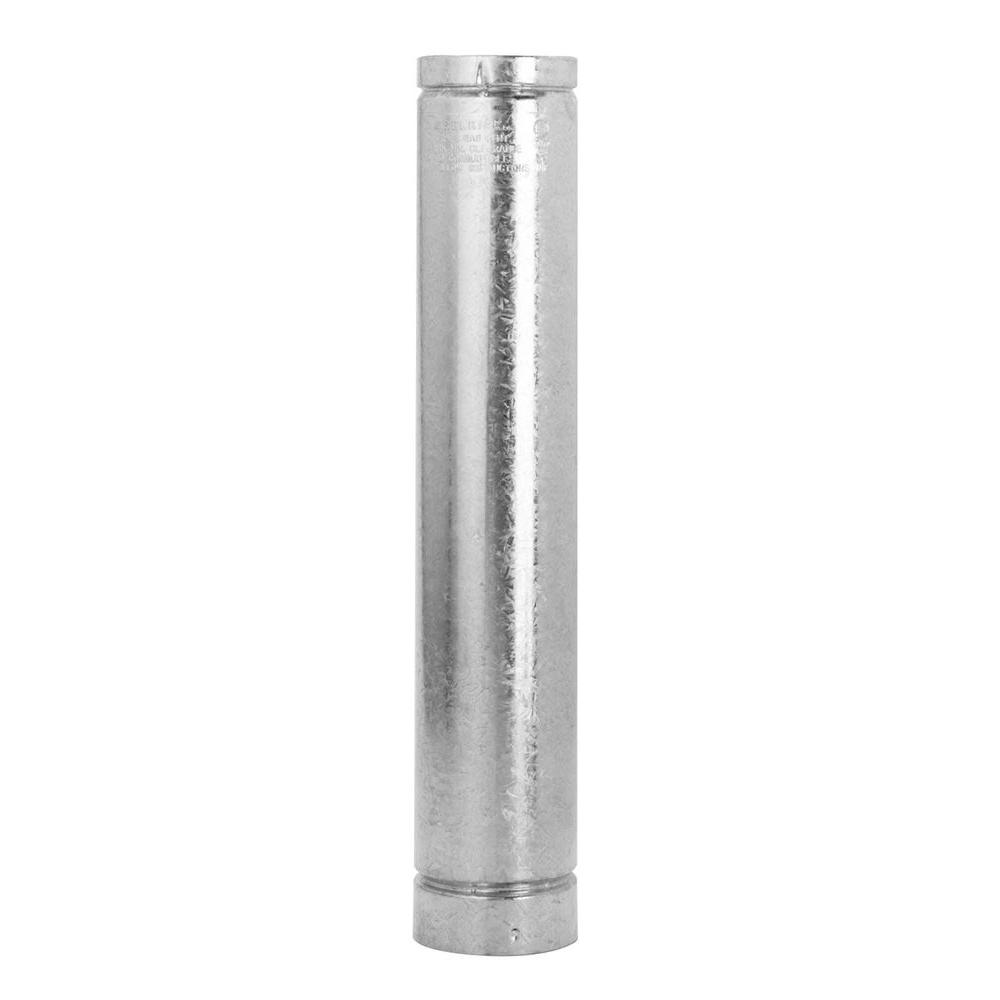 Selkirk 4 In. X 60 In. Steel Round Gas Vent Pipe-104060