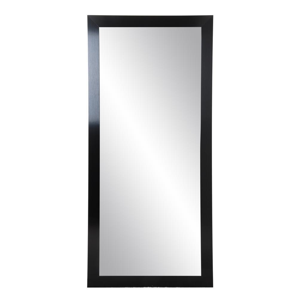 32 in. x 71 in. Black Satin Full Length Mirror