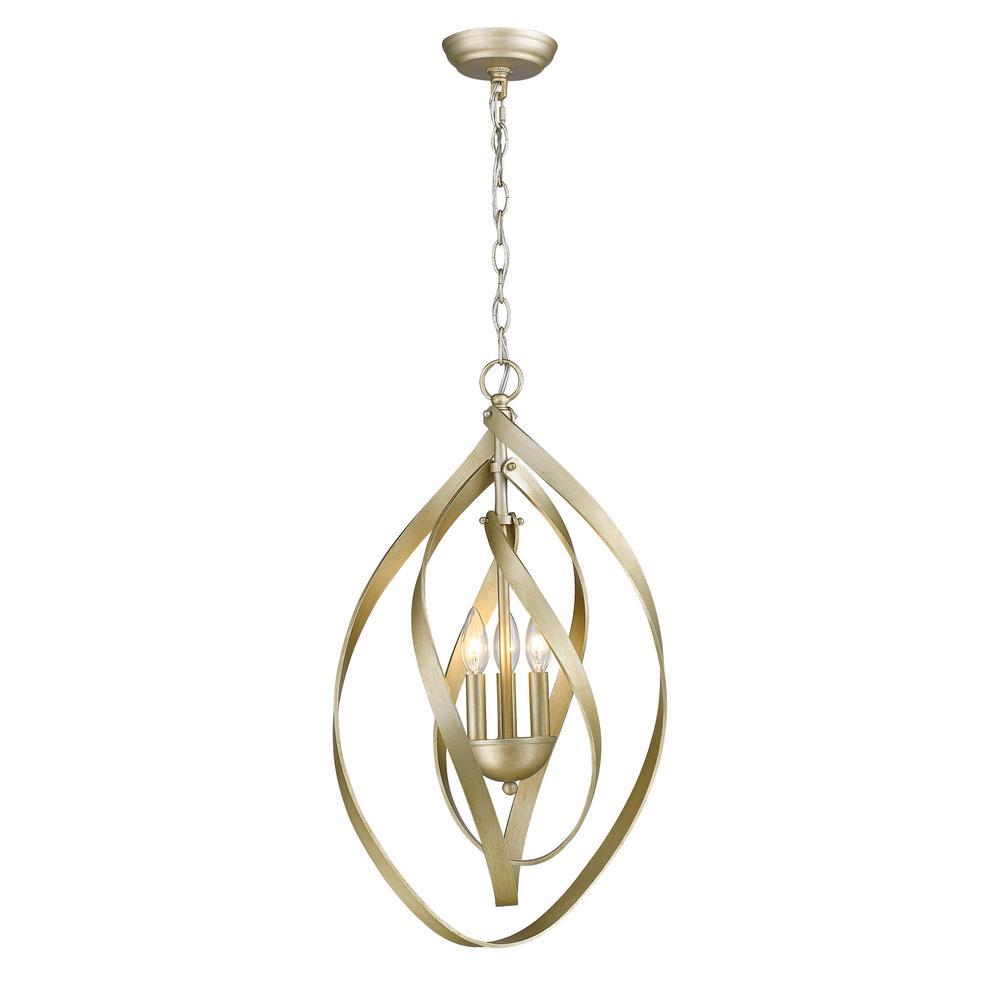 Nicolette 3-Light White Gold Pendant