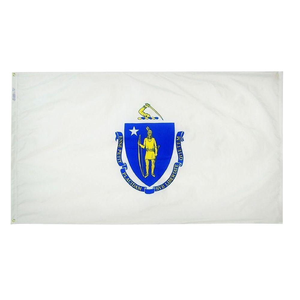 3 ft. x 5 ft. Massachusetts State Flag