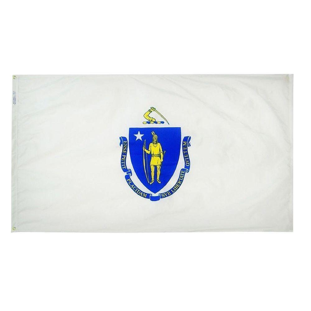 3 ft. x 5 ft. Massachusetts State Flag