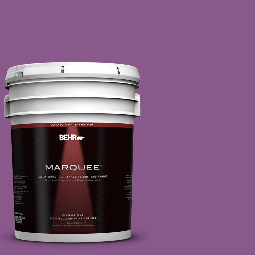 5-gal. #670B-7 Candy Violet Flat Exterior Paint