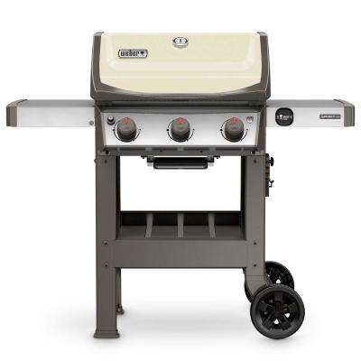 Spirit II E-310 3-Burner Propane Gas Grill in Ivory
