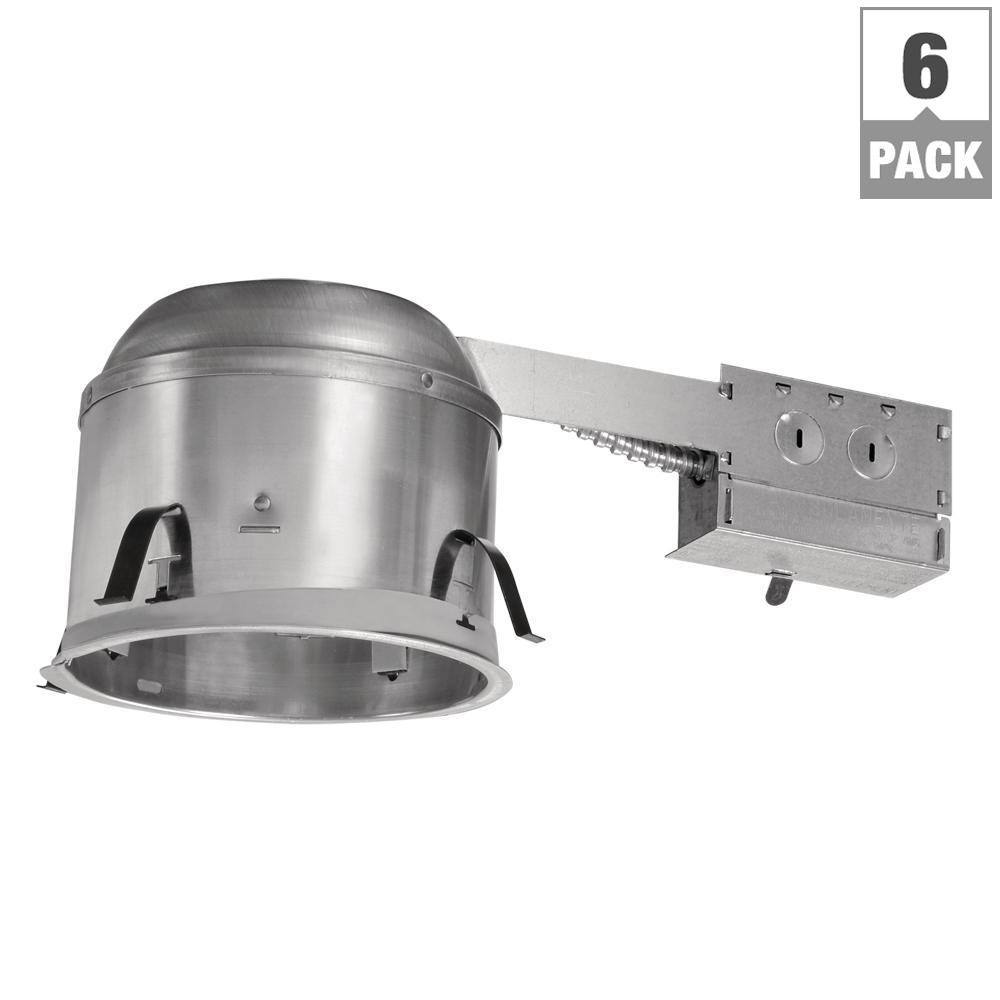 halo h27 6 in aluminum recessed lighting housing for remodel