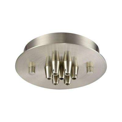 Illuminaire Accessories 7-Light Satin Nickel Small Round Canopy