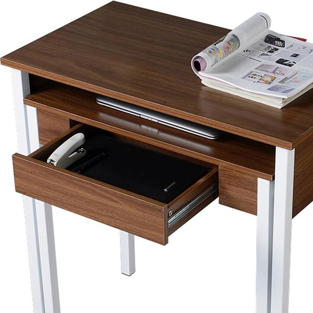 Color Wal RTAV-RTA1459WAL-Techni Mobili Retractable Writing Desk with Storage