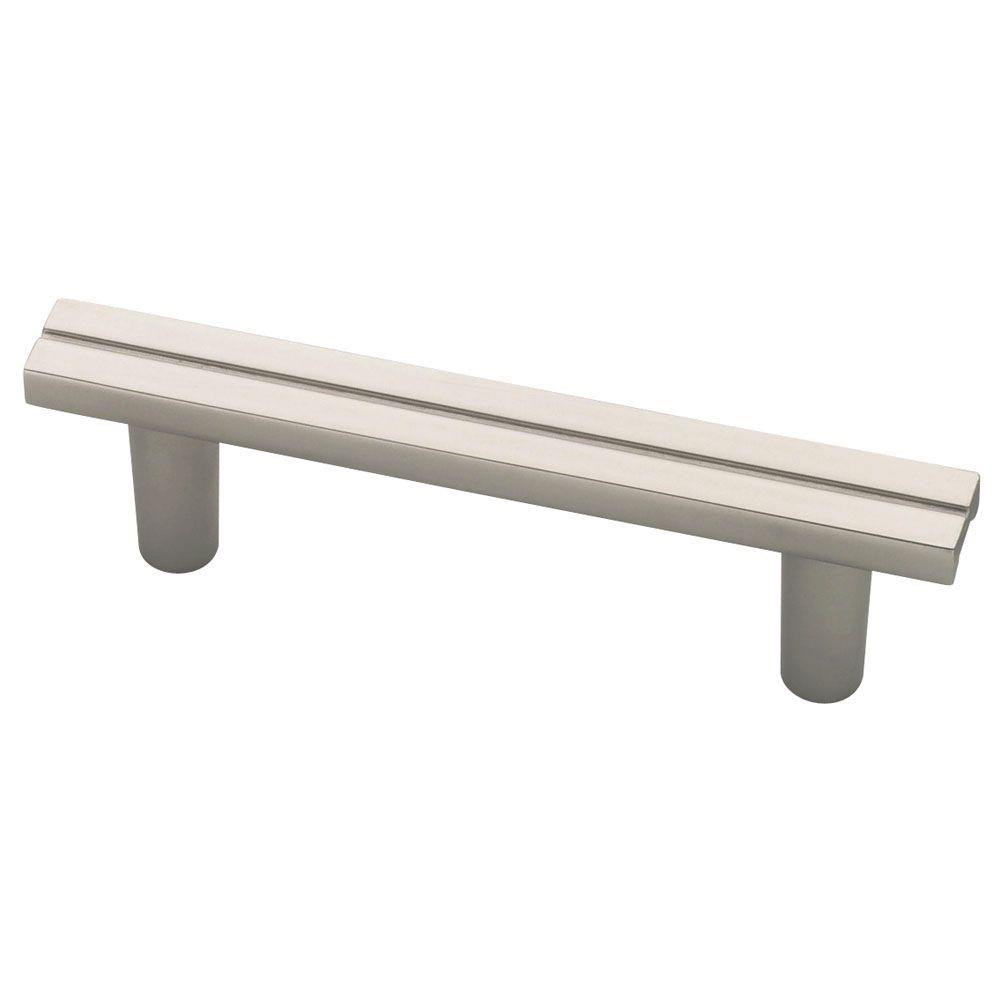 Urban Metals 2-1/2 in. (64mm) Matte Nickel Pinstripe Cabinet Pull