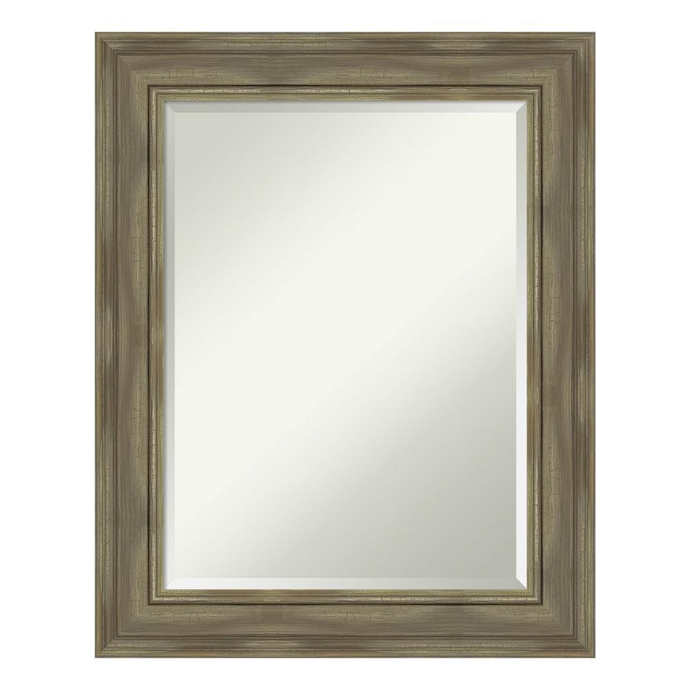 Amanti Art Alexandria Greywash Bathroom Vanity Mirror DSW4094467