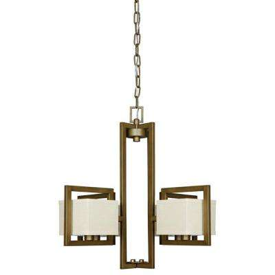 Gallop 4-Light Weathered Bronze Chandelier