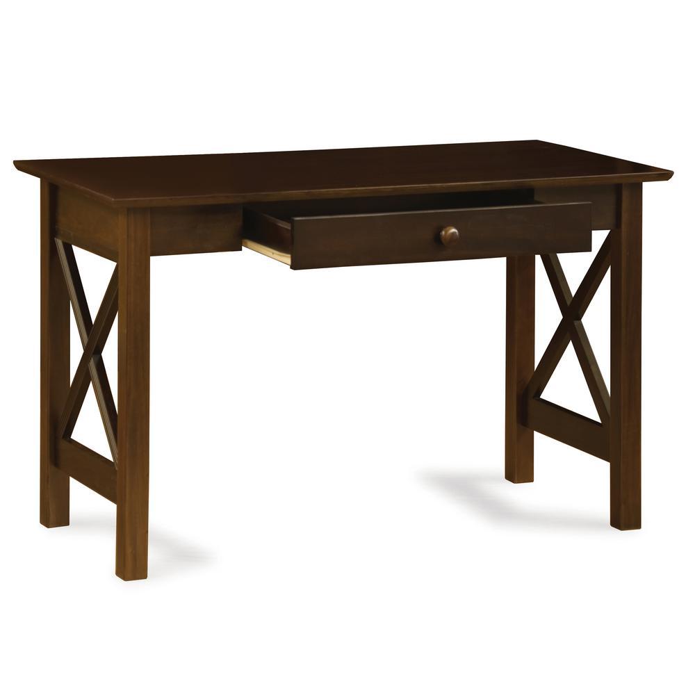 Atlantic Lexi Walnut (Brown) Desk with Drawer